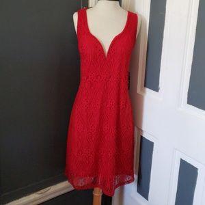 Fashion to figure 3X Red dress